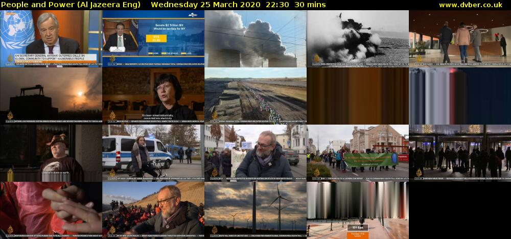 People and Power (Al Jazeera Eng) Wednesday 25 March 2020 22:30 - 23:00