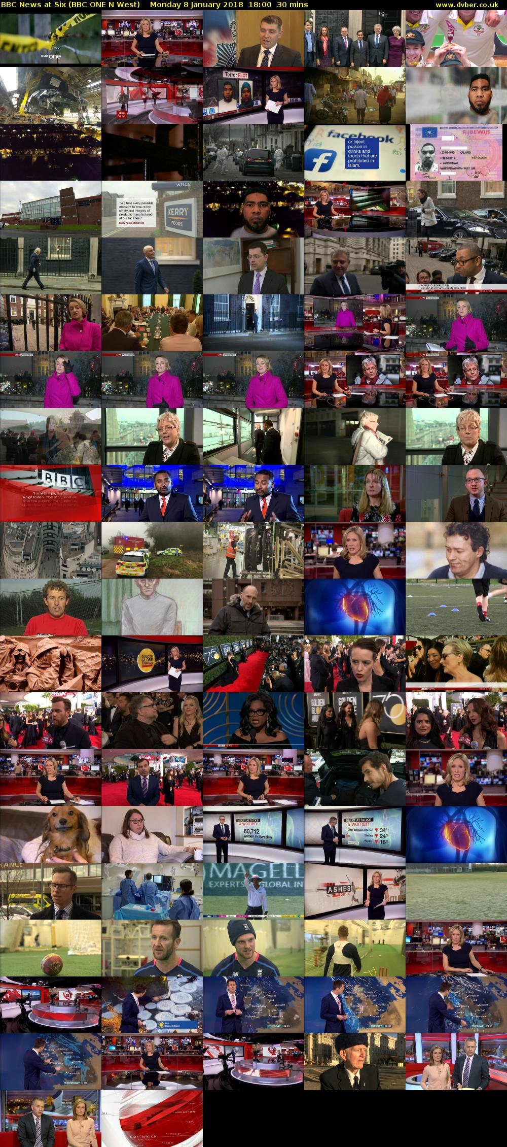 BBC News at Six (BBC ONE N West) Monday 8 January 2018 18:00 - 18:30