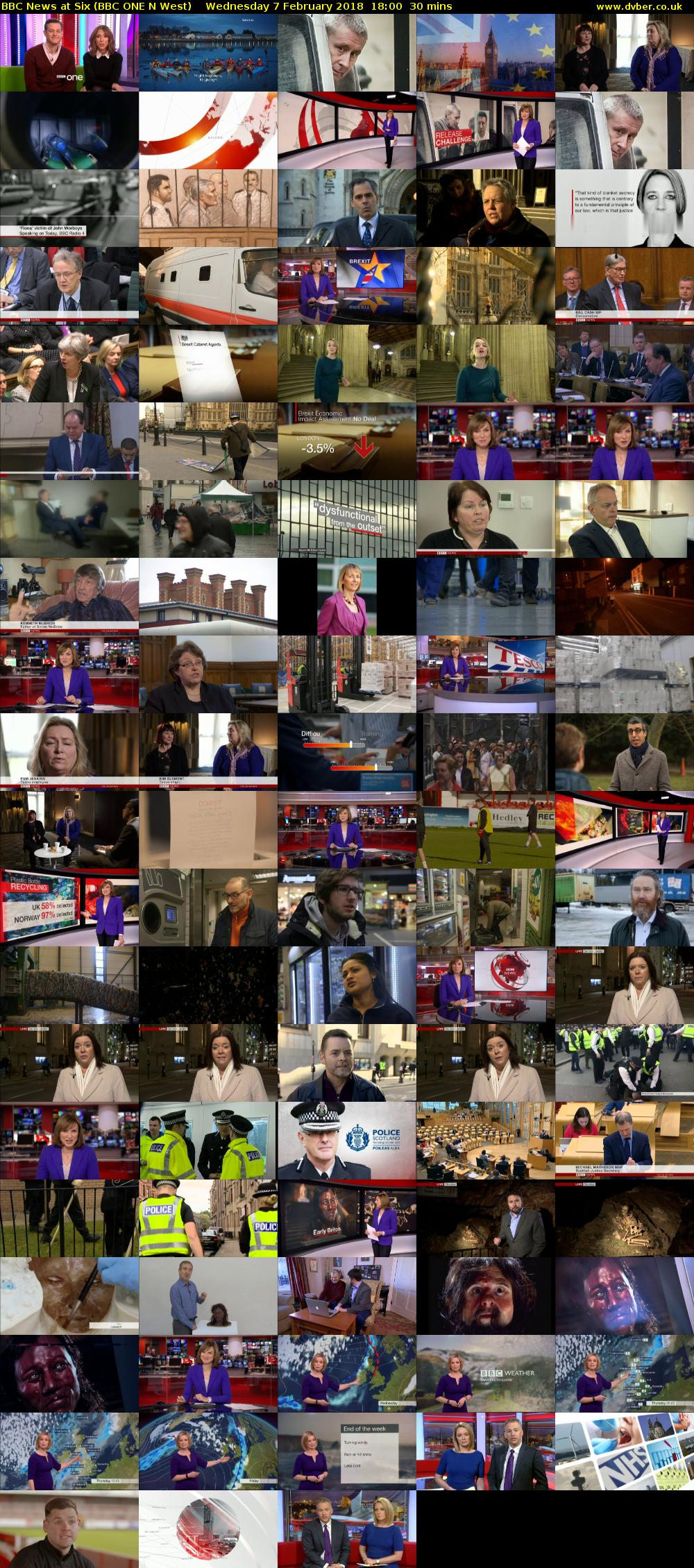 BBC News at Six (BBC ONE N West) Wednesday 7 February 2018 18:00 - 18:30