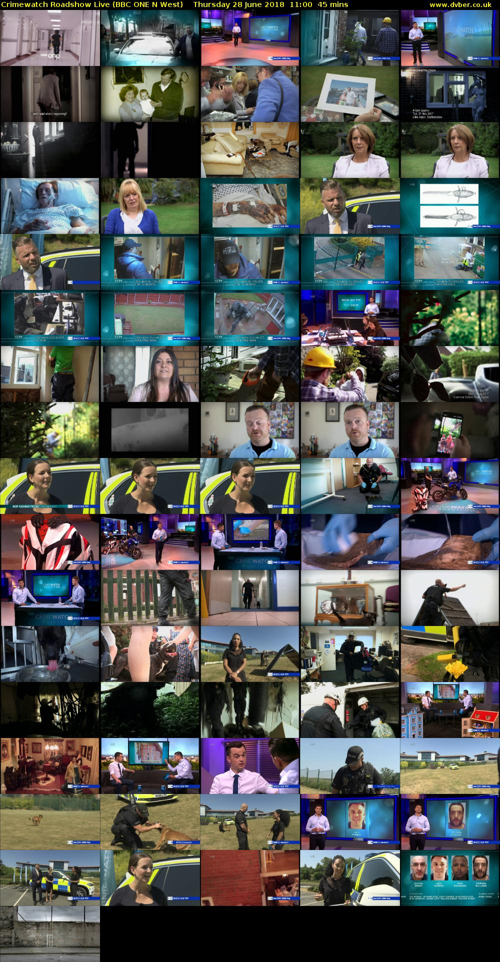 Crimewatch Roadshow Live (BBC ONE N West) Thursday 28 June 2018 11:00 - 11:45