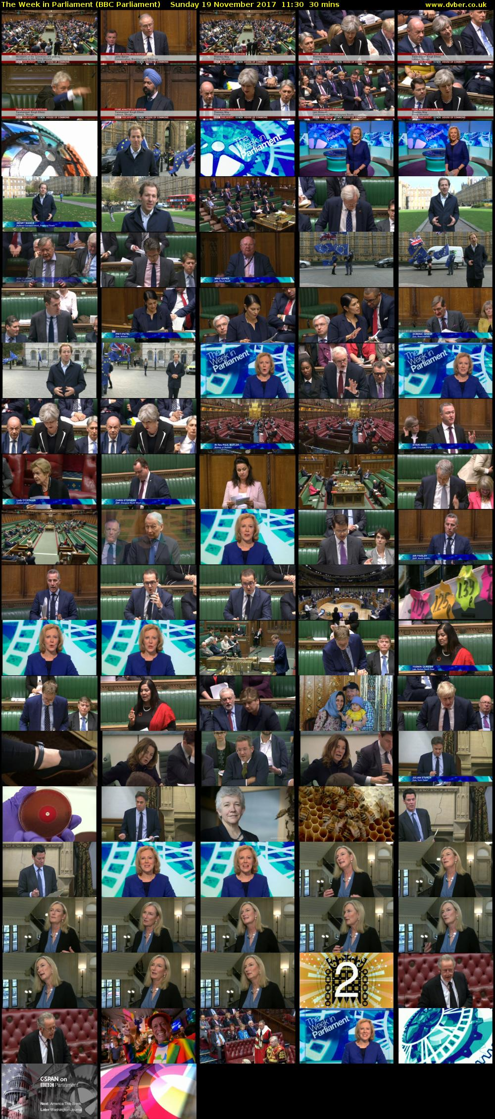 The Week in Parliament (BBC Parliament) Sunday 19 November 2017 11:30 - 12:00