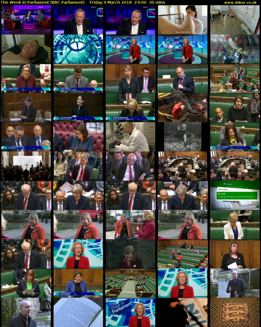 The Week in Parliament (BBC Parliament) Friday 9 March 2018 23:00 - 23:30