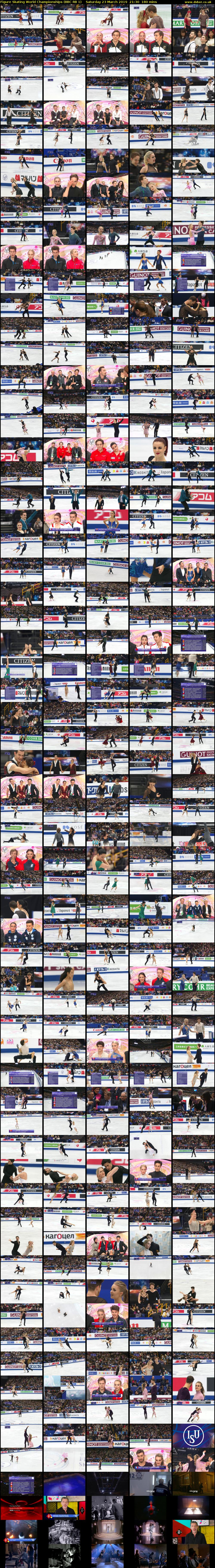 Figure Skating World Championships (BBC RB 1) Saturday 23 March 2019 21:30 - 00:30