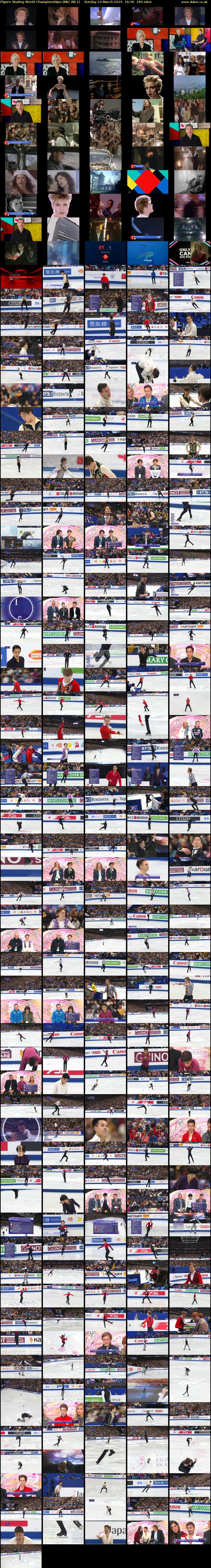 Figure Skating World Championships (BBC RB 1) Sunday 24 March 2019 16:30 - 19:30
