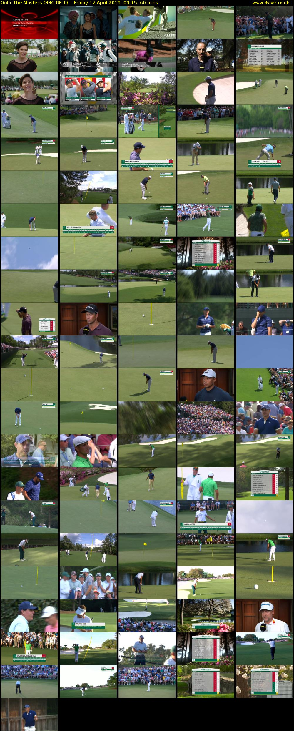 Golf: The Masters (BBC RB 1) Friday 12 April 2019 09:15 - 10:15