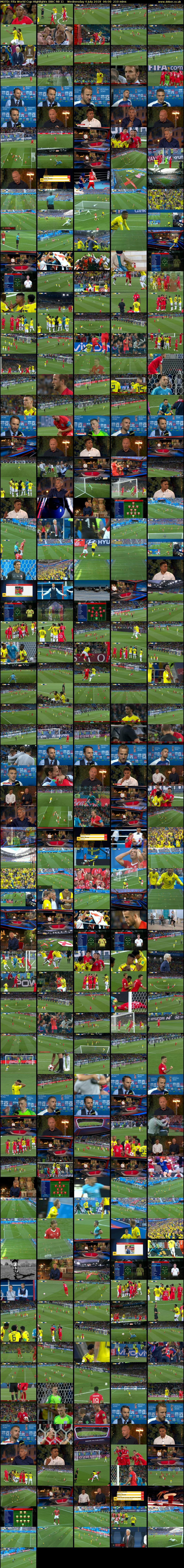 MOTD: Fifa World Cup Highlights (BBC RB 1) Wednesday 4 July 2018 06:00 - 09:30