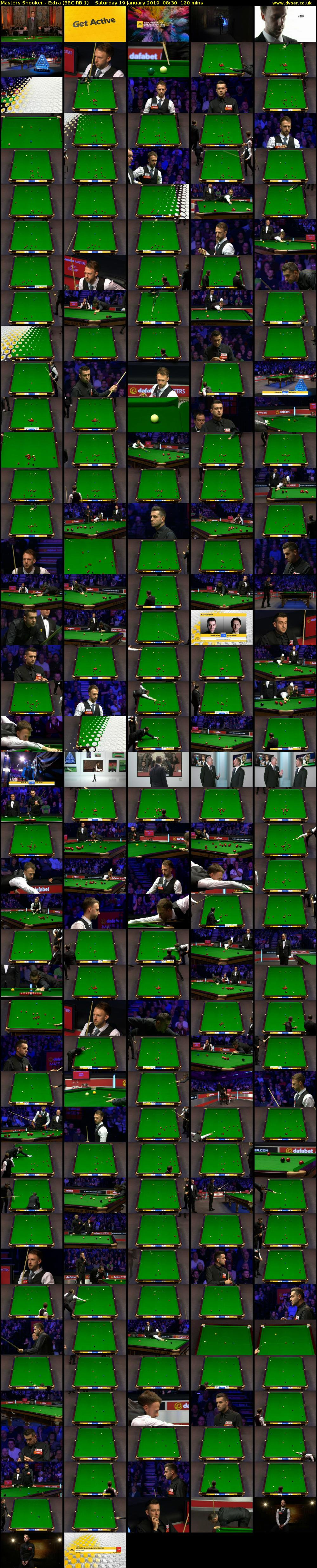 Masters Snooker - Extra (BBC RB 1) Saturday 19 January 2019 08:30 - 10:30