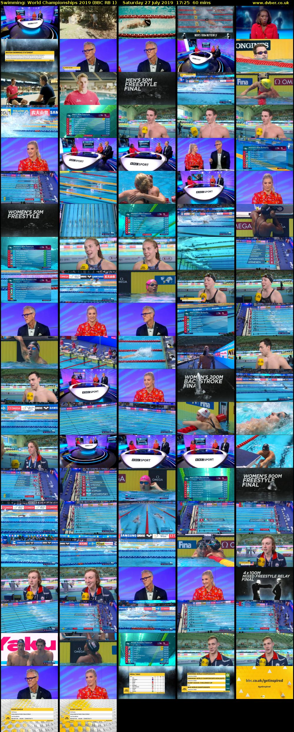 Swimming: World Championships 2019 (BBC RB 1) Saturday 27 July 2019 17:25 - 18:25