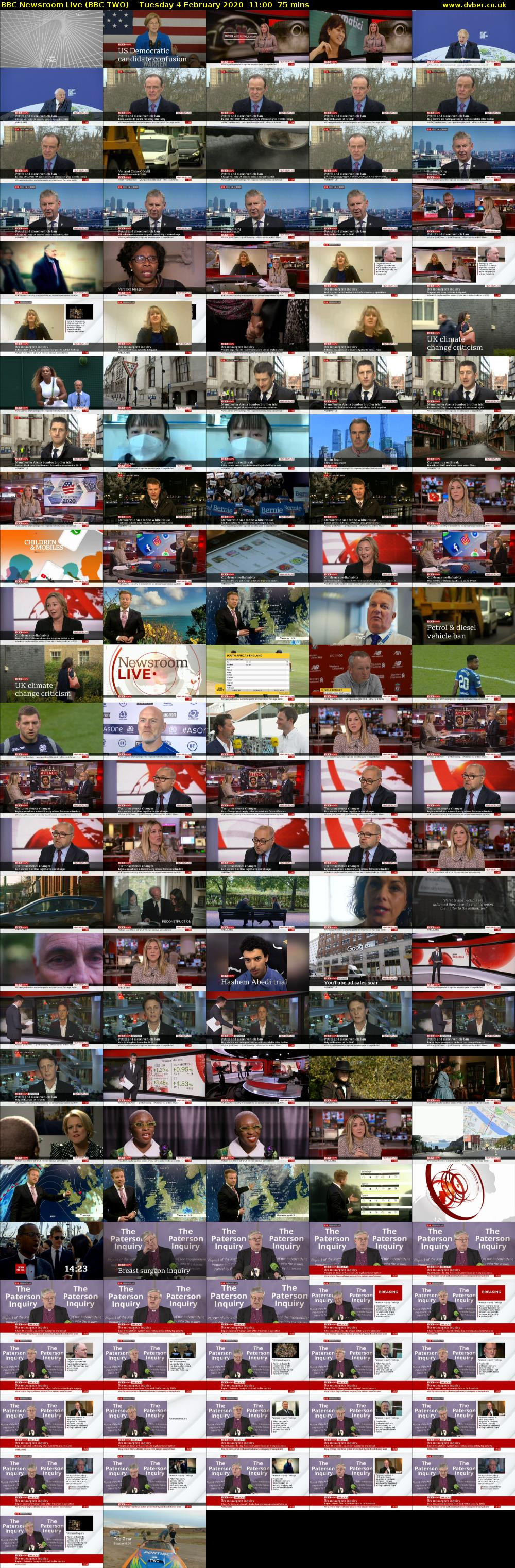 BBC Newsroom Live (BBC TWO) Tuesday 4 February 2020 11:00 - 12:15