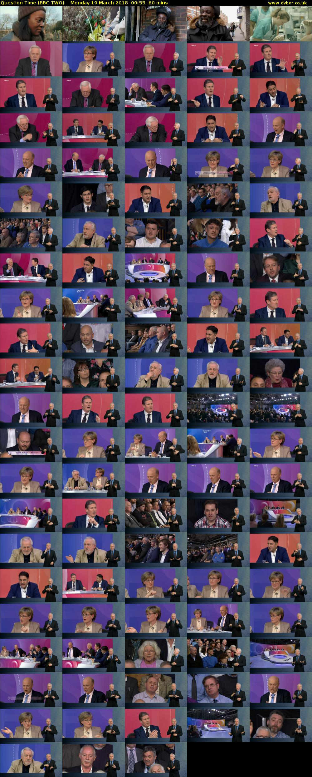 Question Time (BBC TWO) Monday 19 March 2018 00:55 - 01:55