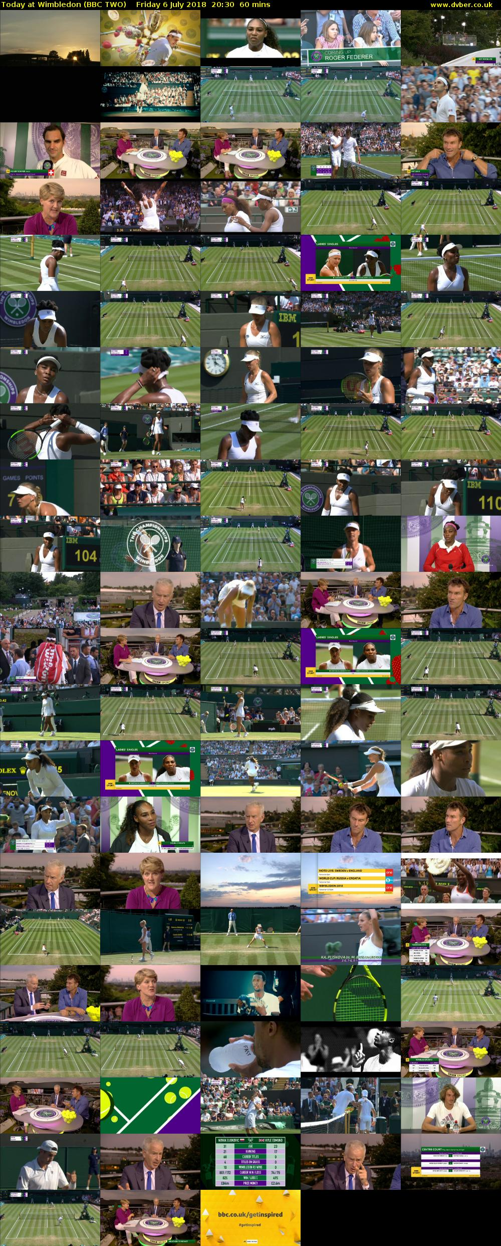 Today at Wimbledon (BBC TWO) Friday 6 July 2018 20:30 - 21:30