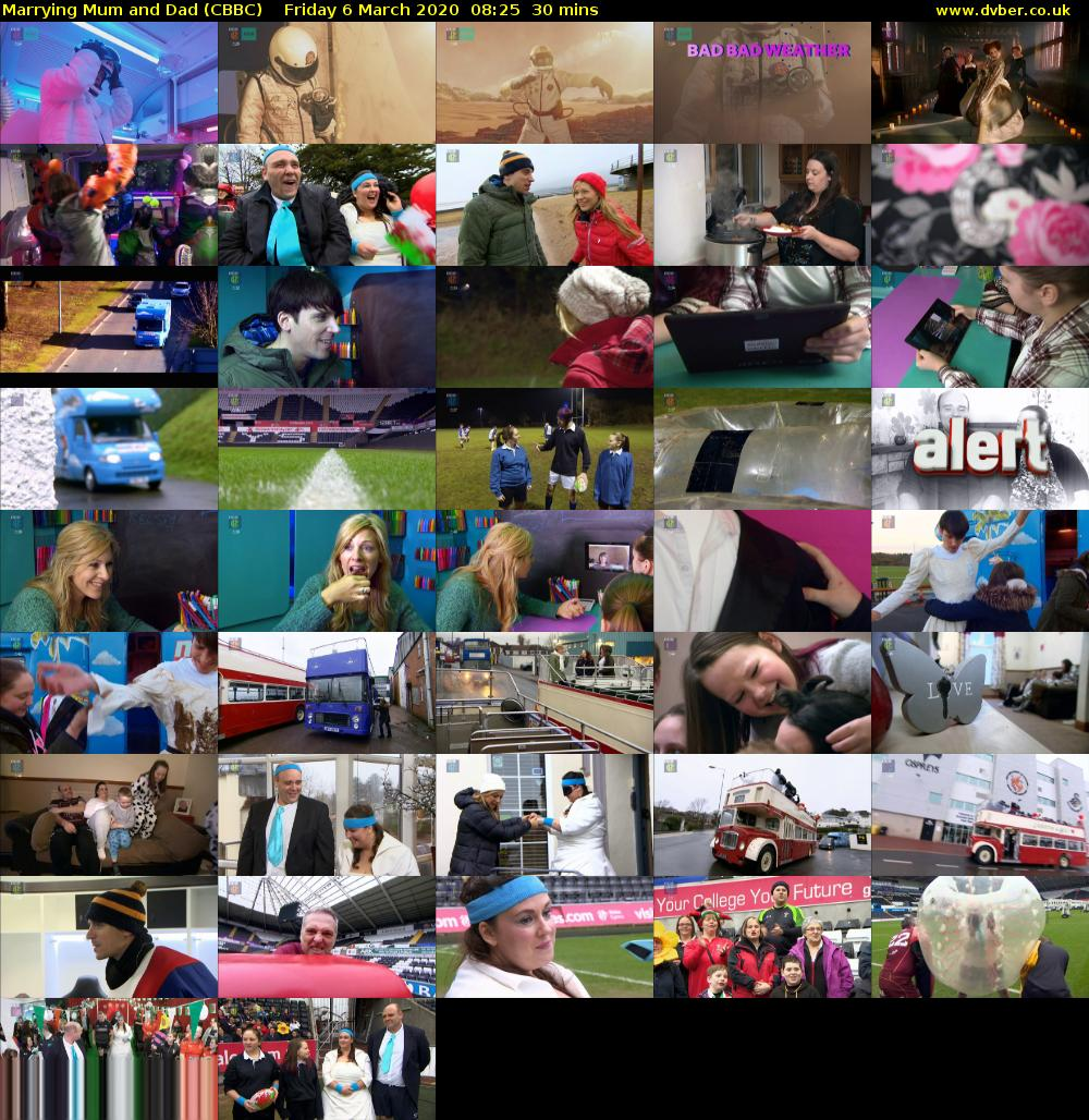 Marrying Mum and Dad (CBBC) Friday 6 March 2020 08:25 - 08:55