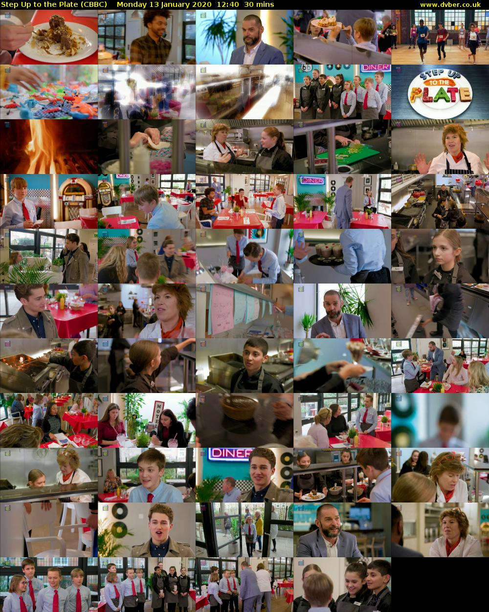 Step Up to the Plate (CBBC) Monday 13 January 2020 12:40 - 13:10