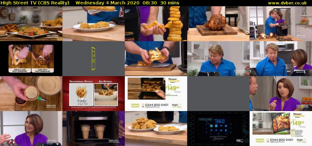High Street TV (CBS Reality) Wednesday 4 March 2020 08:30 - 09:00