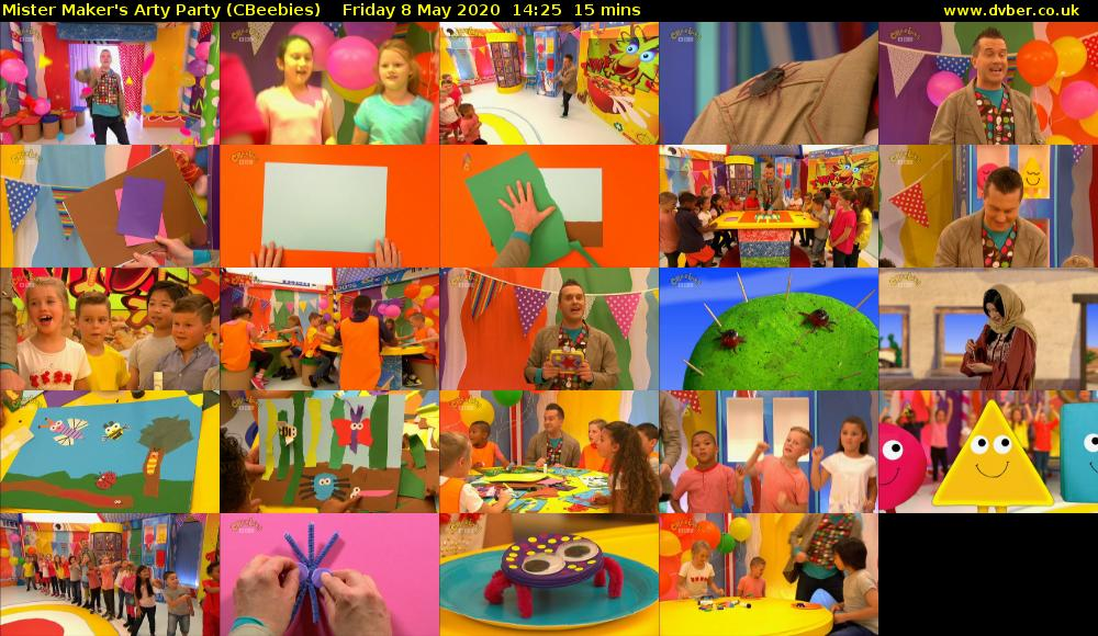 Mister Maker's Arty Party (CBeebies) Friday 8 May 2020 14:25 - 14:40