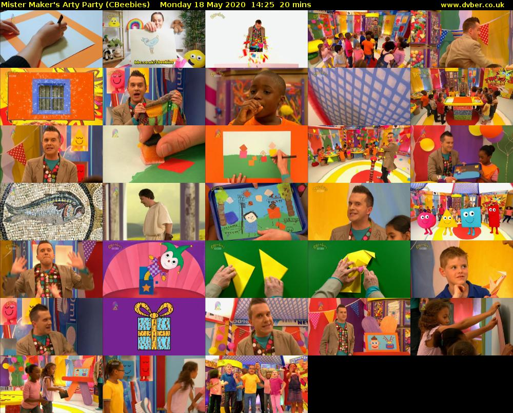 Mister Maker's Arty Party (CBeebies) Monday 18 May 2020 14:25 - 14:45