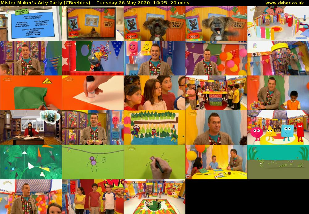 Mister Maker's Arty Party (CBeebies) Tuesday 26 May 2020 14:25 - 14:45