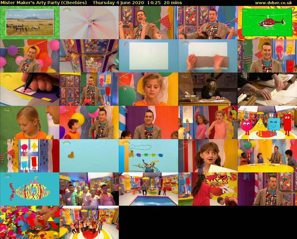 Mister Maker's Arty Party (CBeebies) Thursday 4 June 2020 14:25 - 14:45