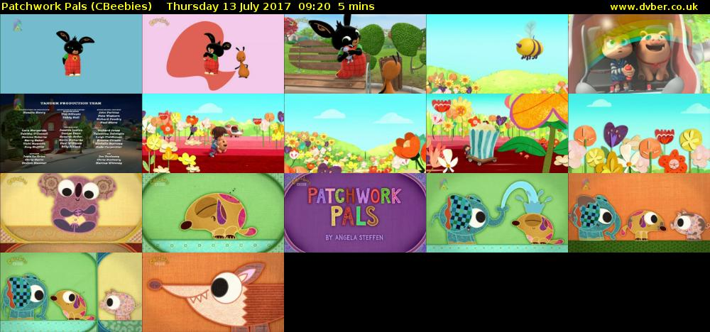 Patchwork Pals Cbeebies 2017 07 13 0920