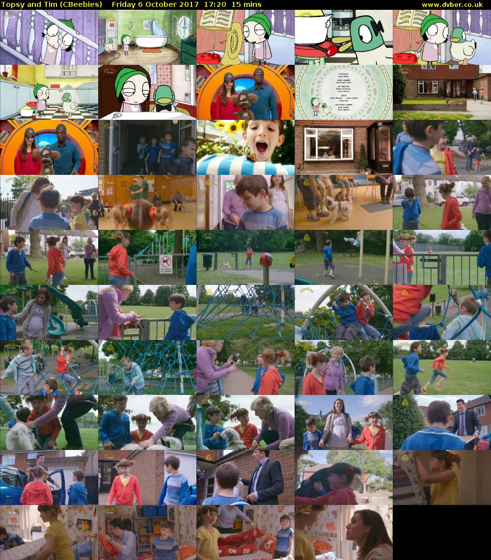 Topsy and Tim (CBeebies) Friday 6 October 2017 17:20 - 17:35