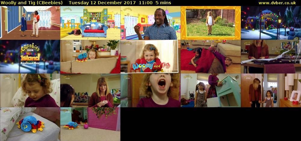 Woolly and Tig (CBeebies) Tuesday 12 December 2017 11:00 - 11:05