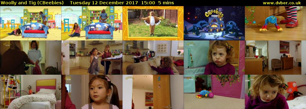 Woolly and Tig (CBeebies) Tuesday 12 December 2017 15:00 - 15:05