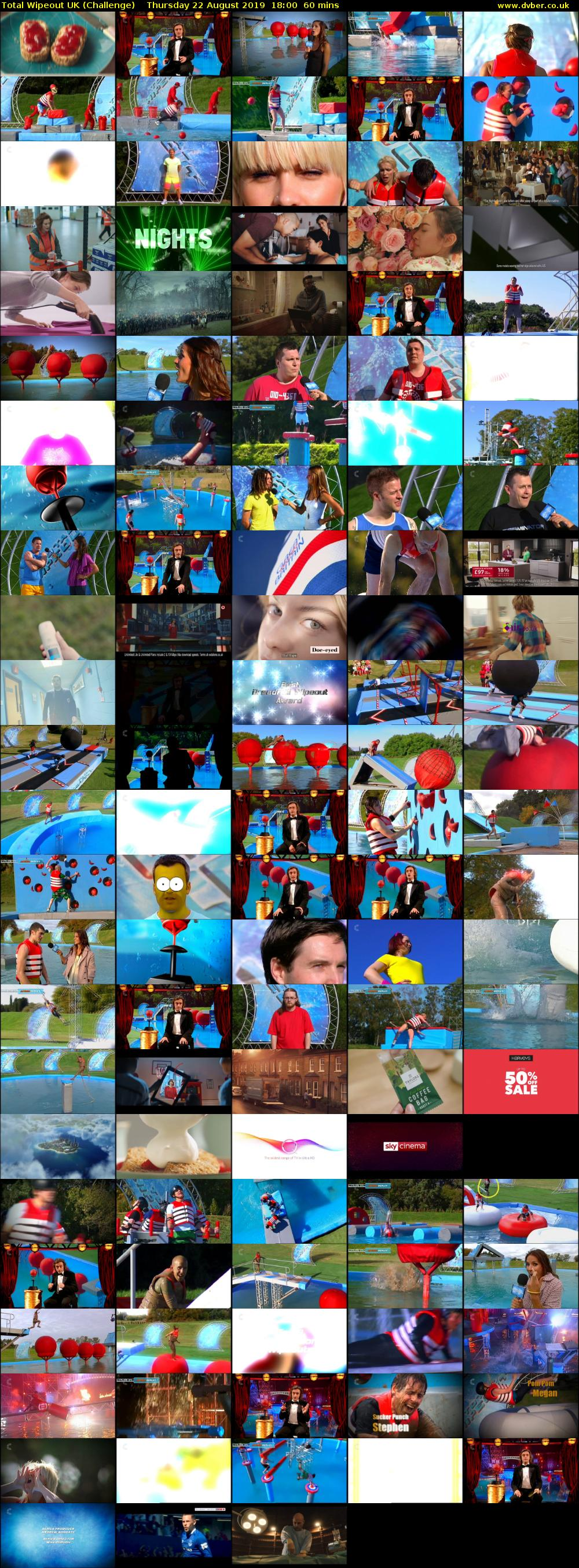 Total Wipeout UK (Challenge) Thursday 22 August 2019 18:00 - 19:00