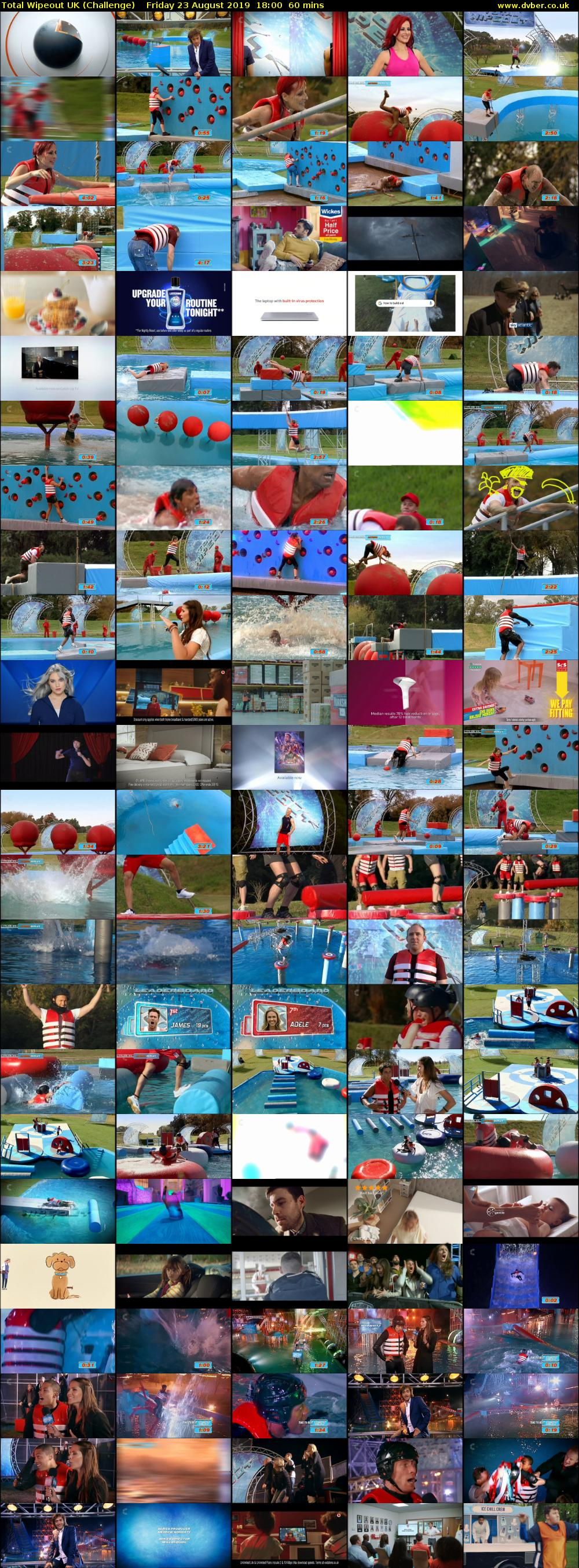 Total Wipeout UK (Challenge) Friday 23 August 2019 18:00 - 19:00