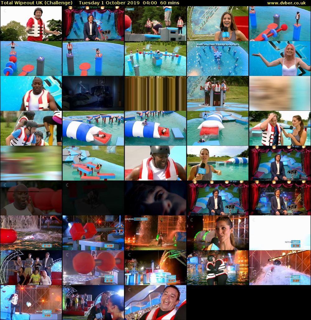 Total Wipeout UK (Challenge) Tuesday 1 October 2019 04:00 - 05:00