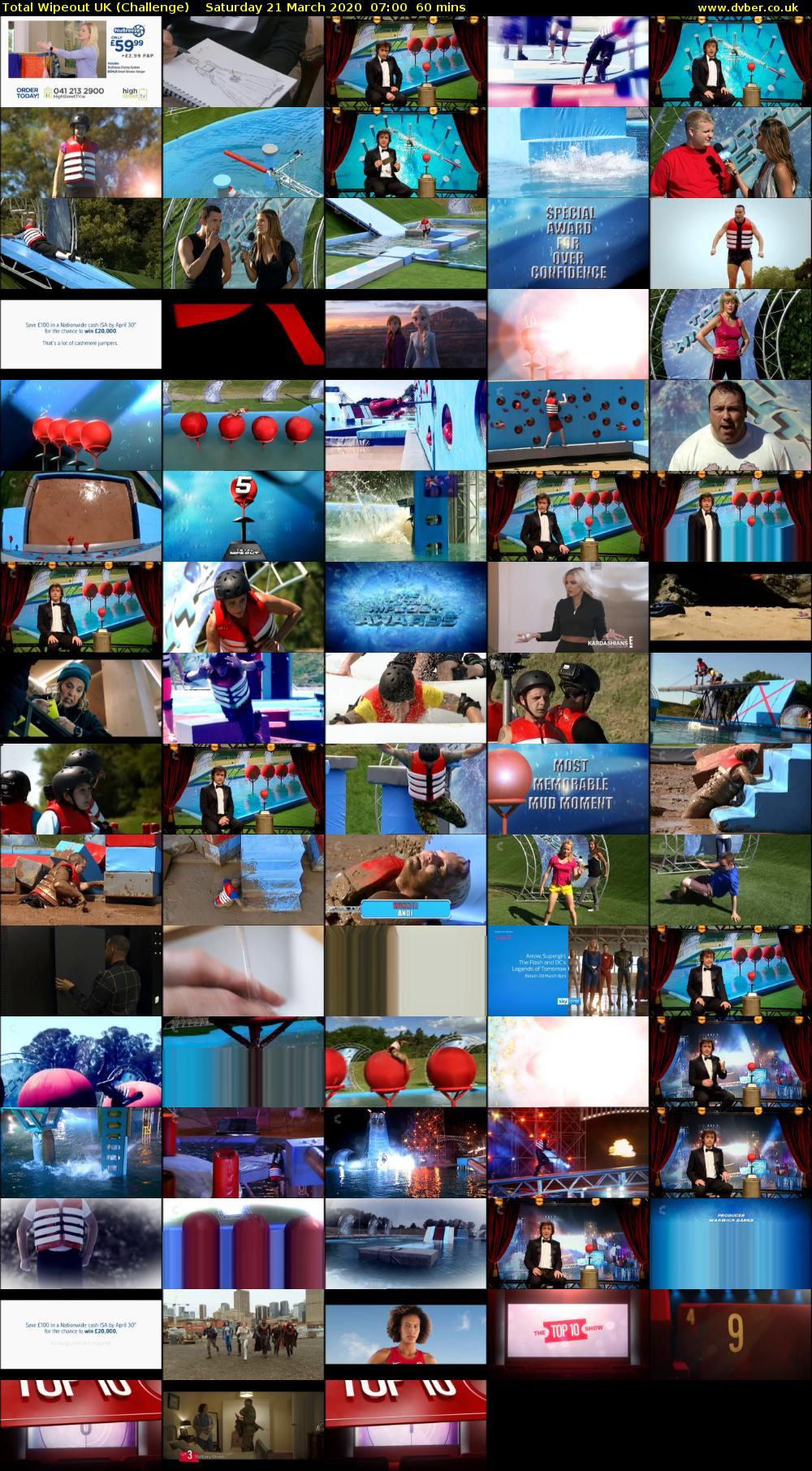 Total Wipeout UK (Challenge) Saturday 21 March 2020 07:00 - 08:00