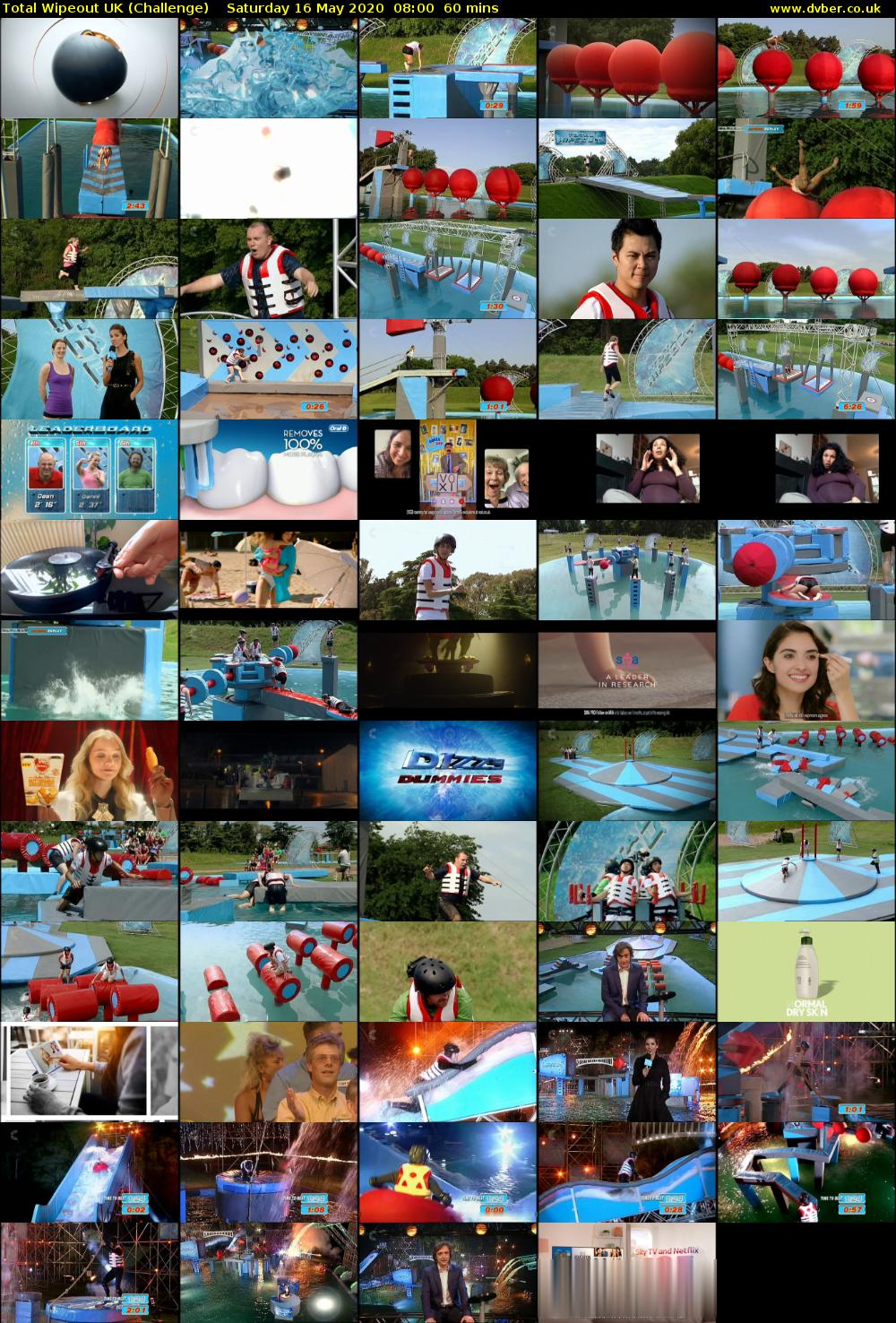 Total Wipeout UK (Challenge) Saturday 16 May 2020 08:00 - 09:00