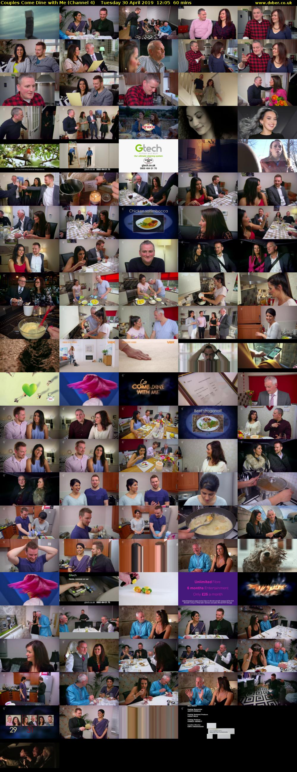 Couples Come Dine with Me (Channel 4) Tuesday 30 April 2019 12:05 - 13:05