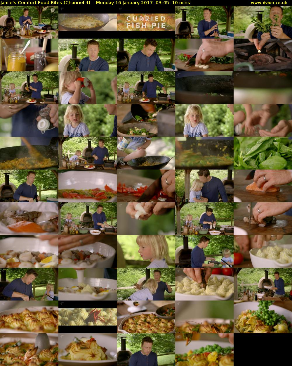 Jamie's Comfort Food Bites (Channel 4) Monday 16 January 2017 03:45 - 03:55