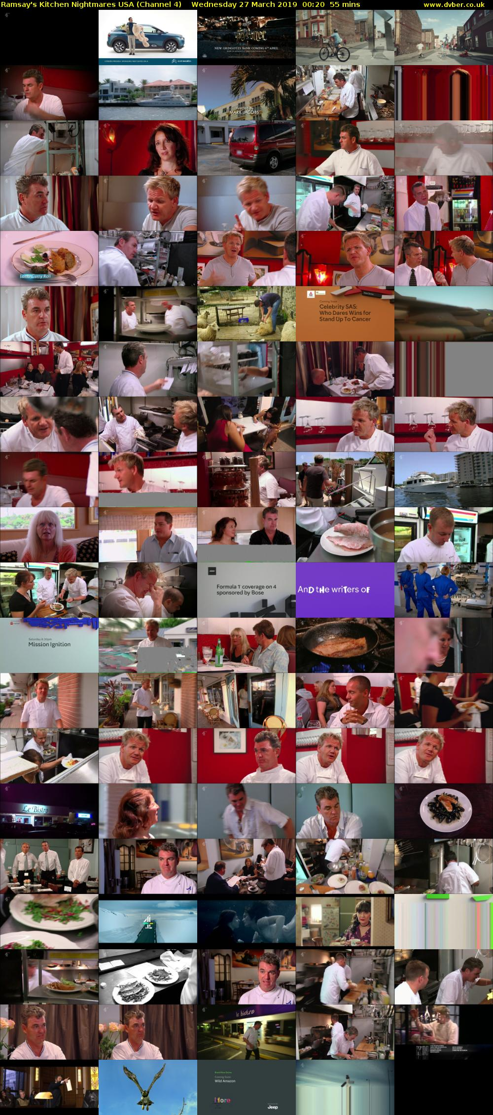 Ramsay's Kitchen Nightmares USA (Channel 4) Wednesday 27 March 2019 00:20 - 01:15