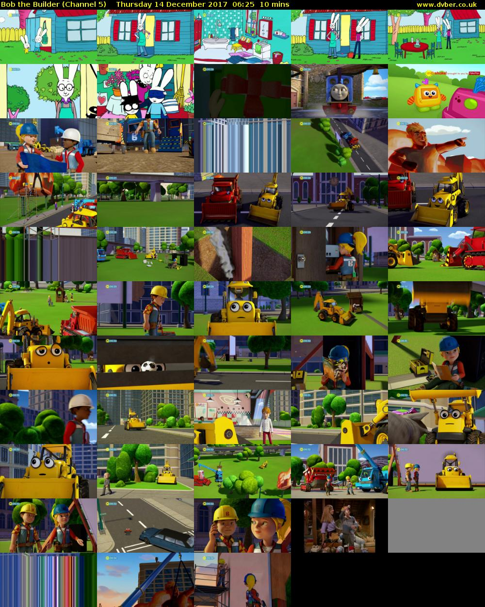 Bob the Builder (Channel 5) Thursday 14 December 2017 06:25 - 06:35