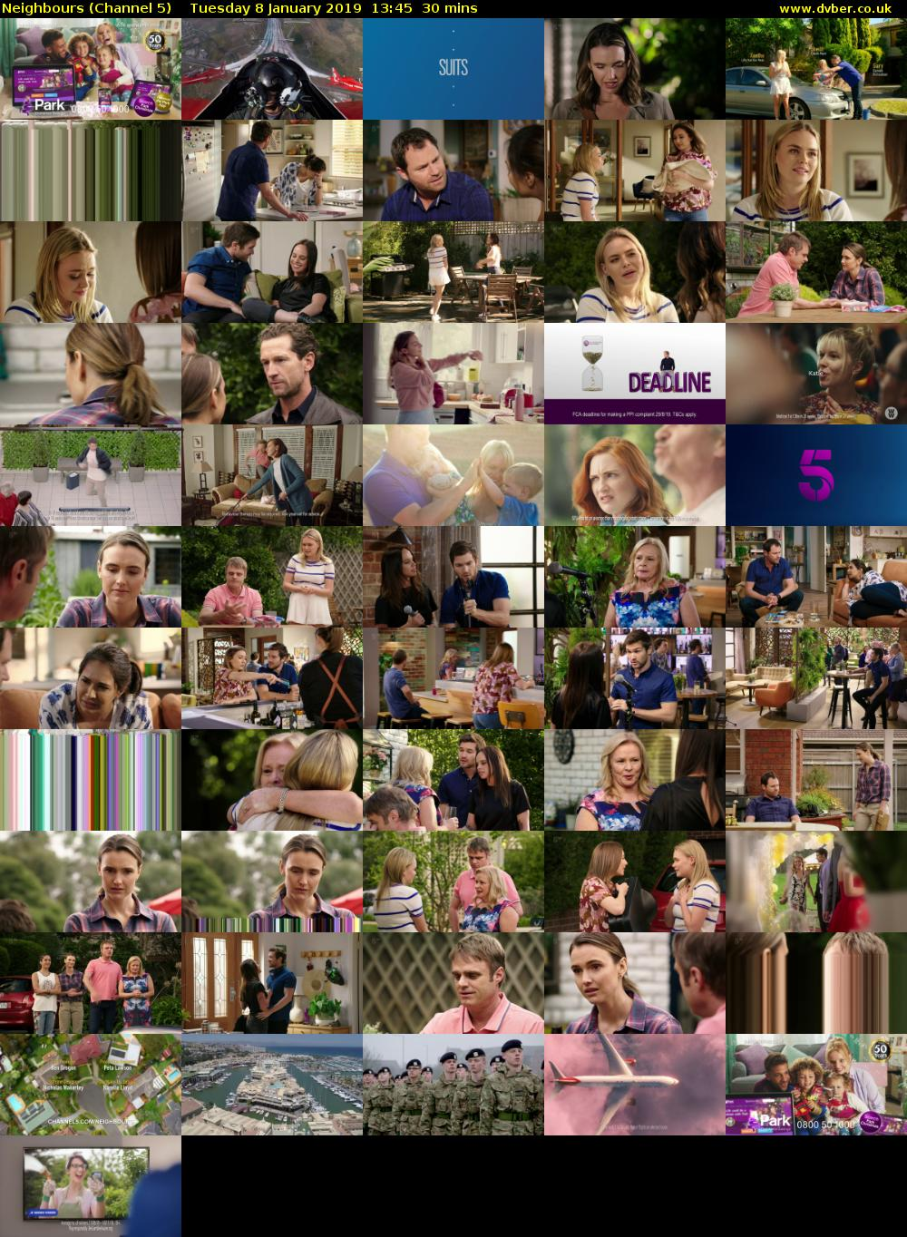 Neighbours (Channel 5) Tuesday 8 January 2019 13:45 - 14:15