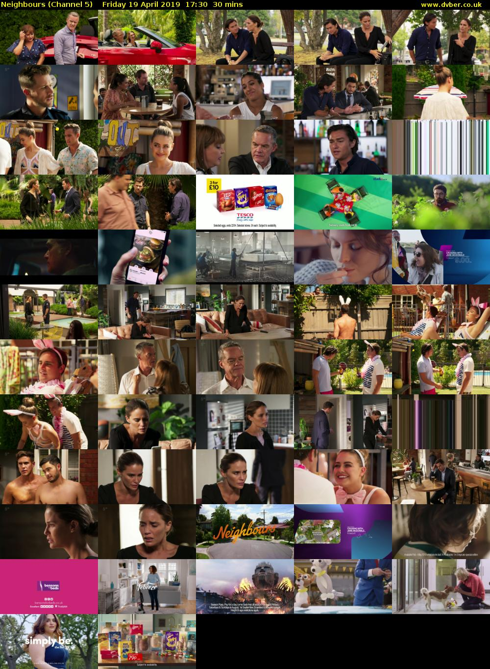 Neighbours (Channel 5) Friday 19 April 2019 17:30 - 18:00