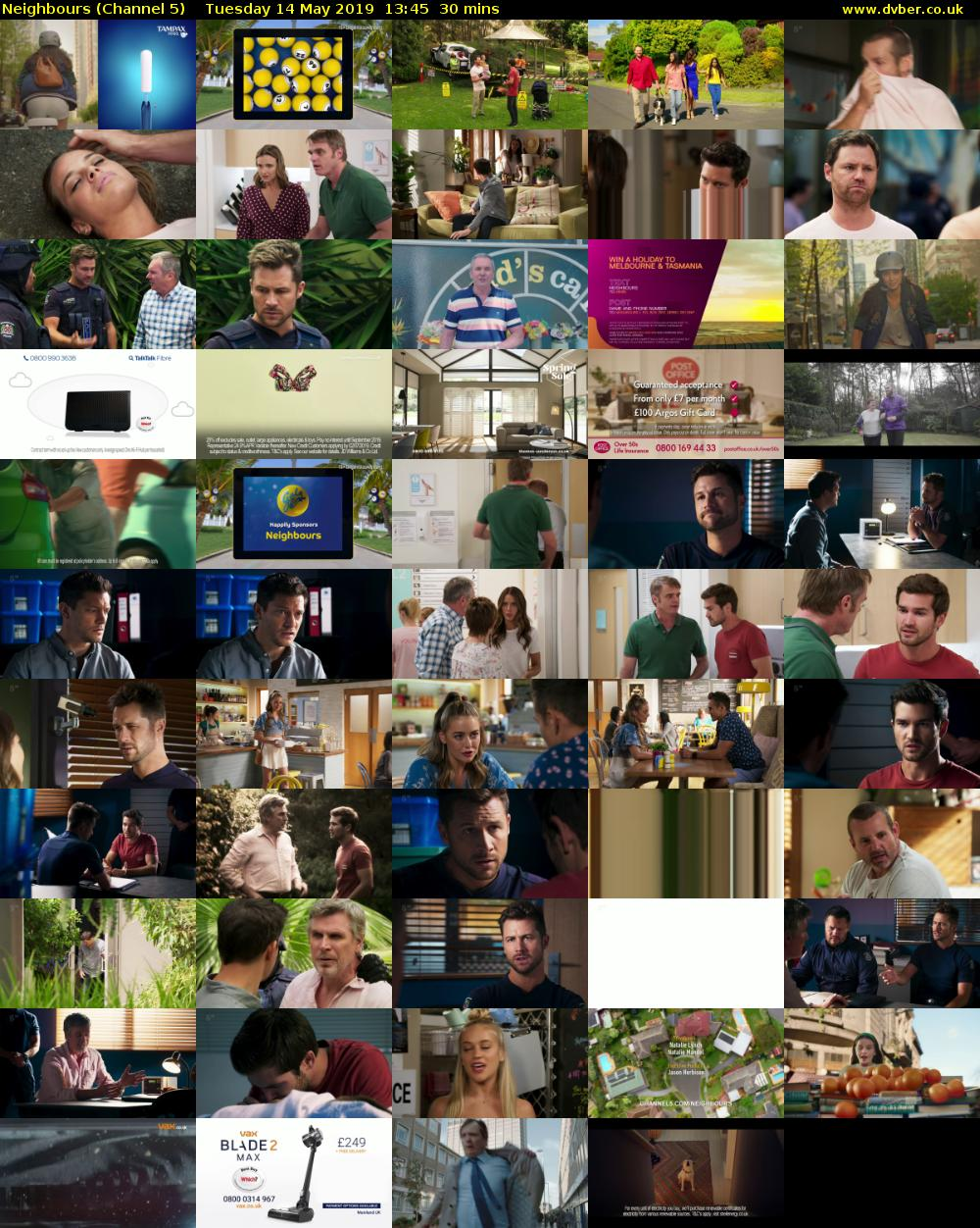 Neighbours (Channel 5) Tuesday 14 May 2019 13:45 - 14:15