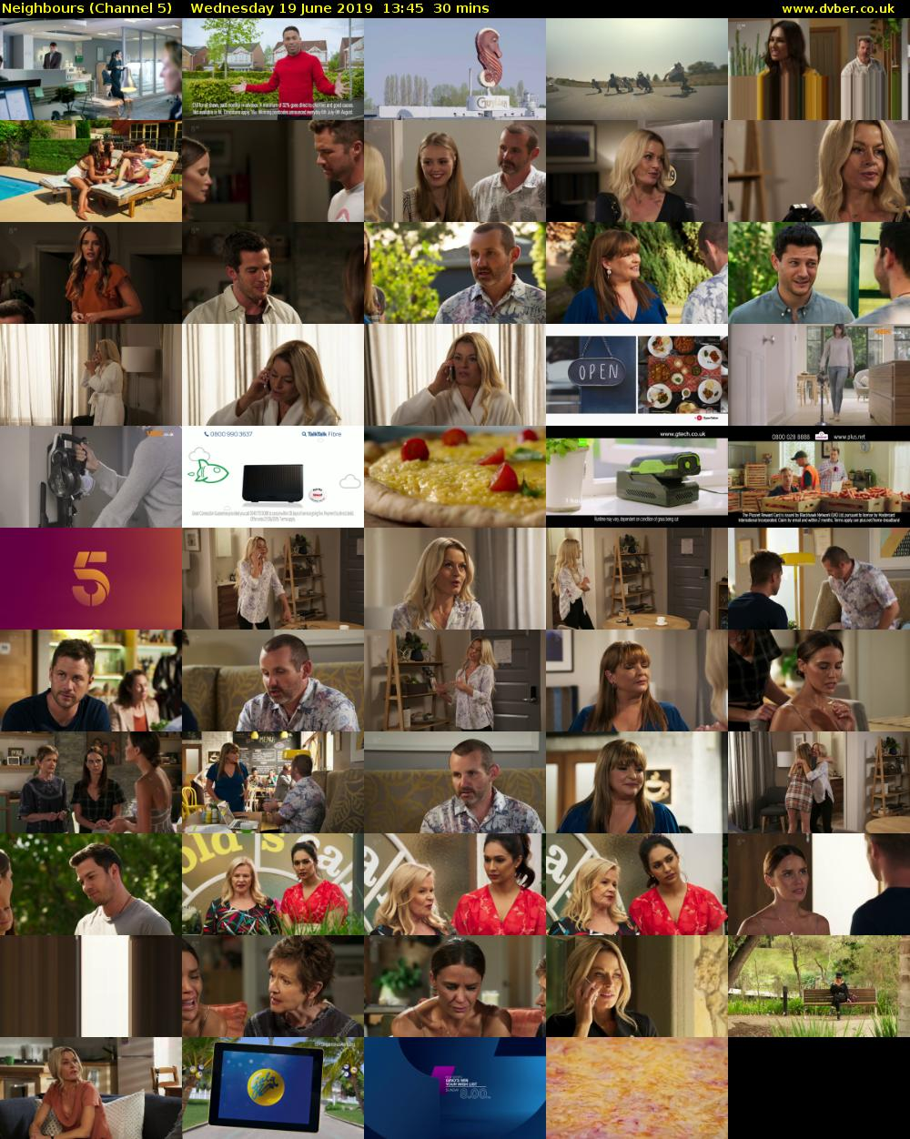 Neighbours (Channel 5) Wednesday 19 June 2019 13:45 - 14:15