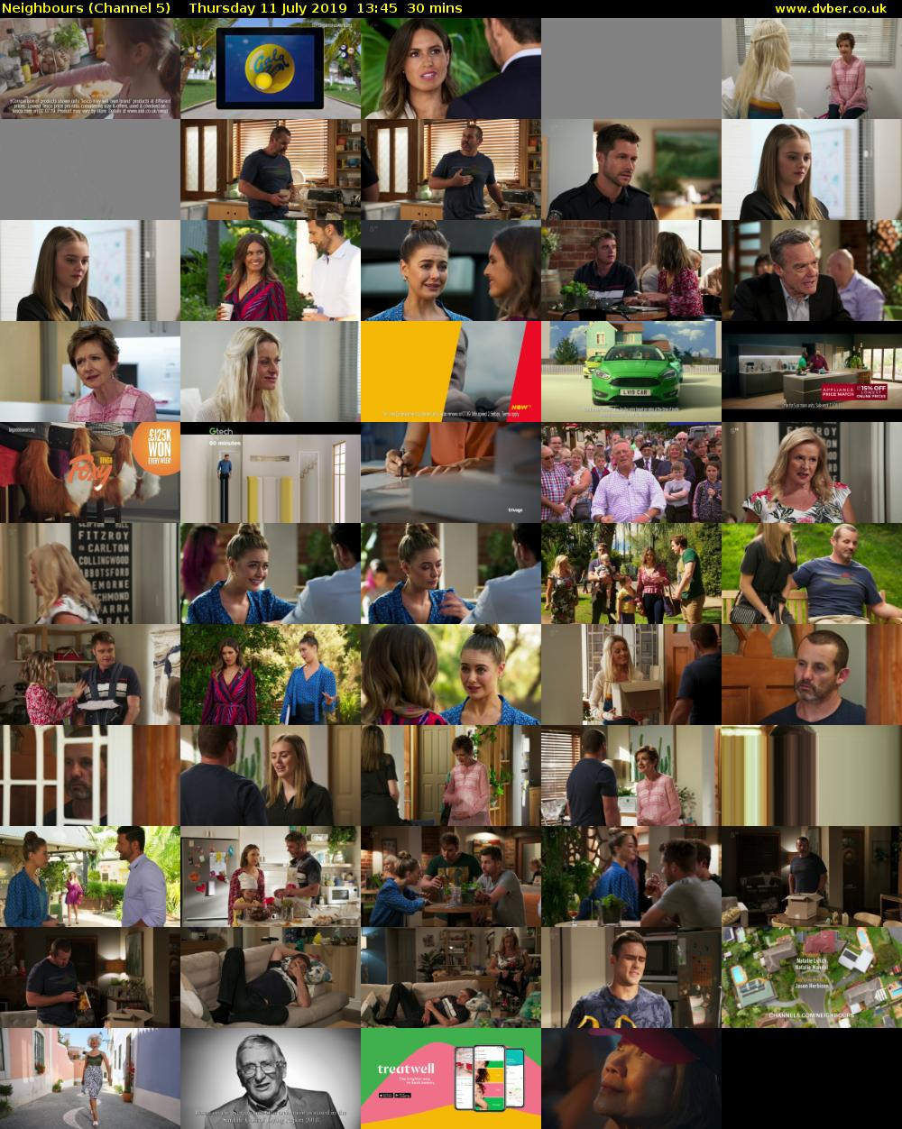 Neighbours (Channel 5) Thursday 11 July 2019 13:45 - 14:15
