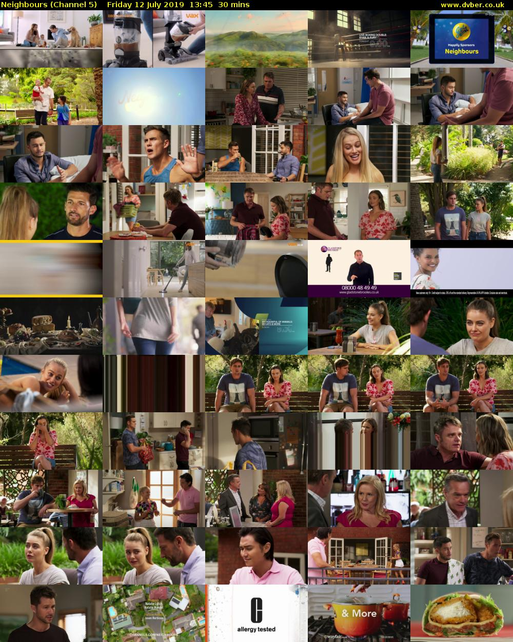 Neighbours (Channel 5) Friday 12 July 2019 13:45 - 14:15