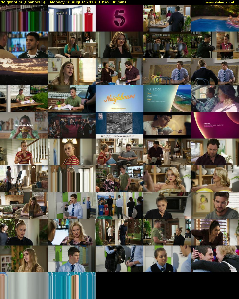 Neighbours (Channel 5) Monday 10 August 2020 13:45 - 14:15