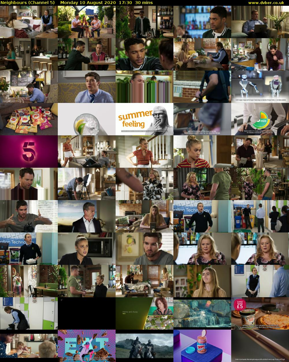 Neighbours (Channel 5) Monday 10 August 2020 17:30 - 18:00