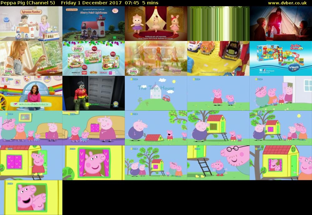 Peppa Pig Channel 5 Hd 2017 12 01 0745