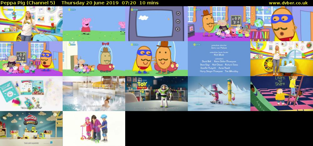 Peppa Pig (Channel 5) Thursday 20 June 2019 07:20 - 07:30