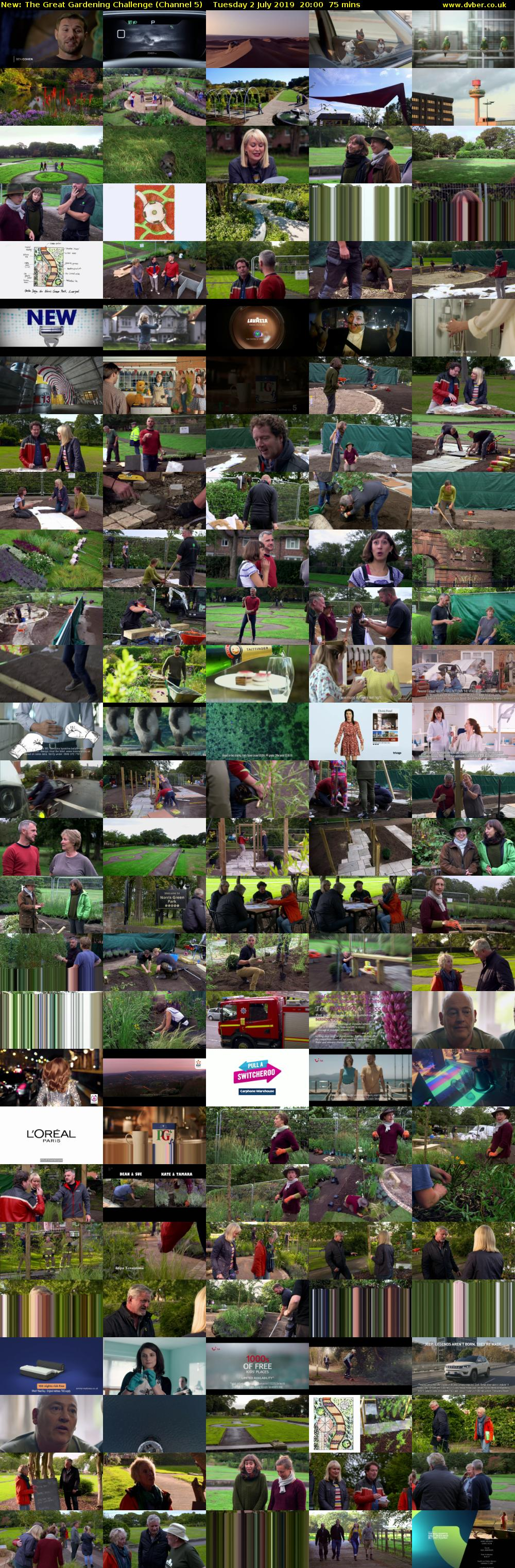 The Great Gardening Challenge (Channel 5) Tuesday 2 July 2019 20:00 - 21:15