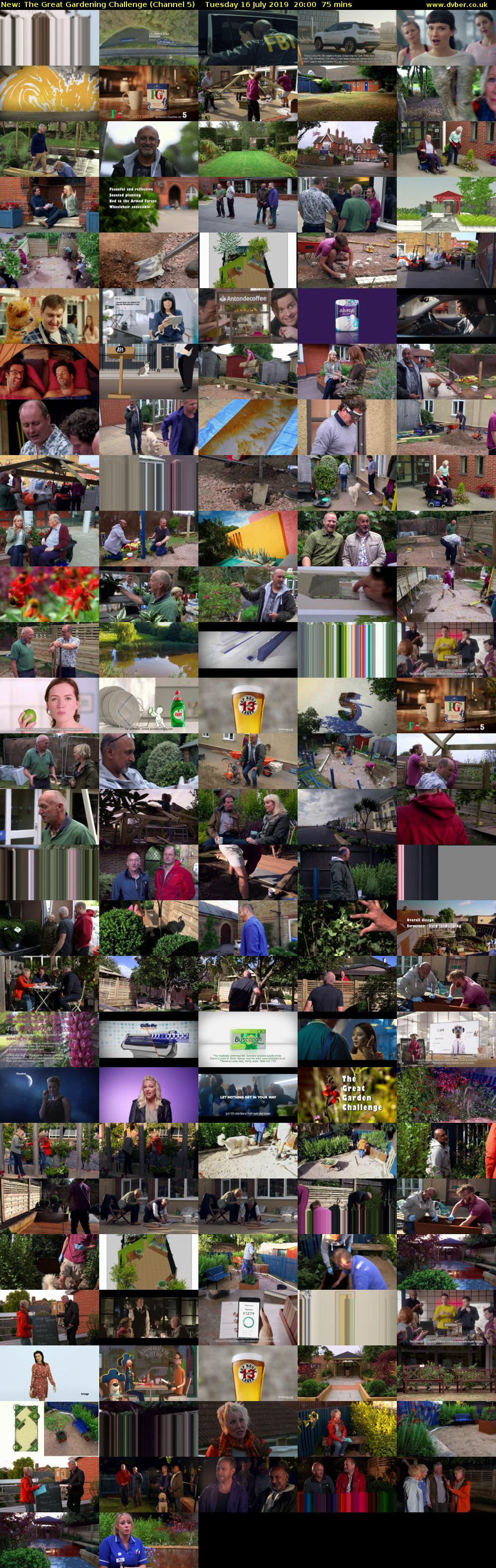 The Great Gardening Challenge (Channel 5) Tuesday 16 July 2019 20:00 - 21:15