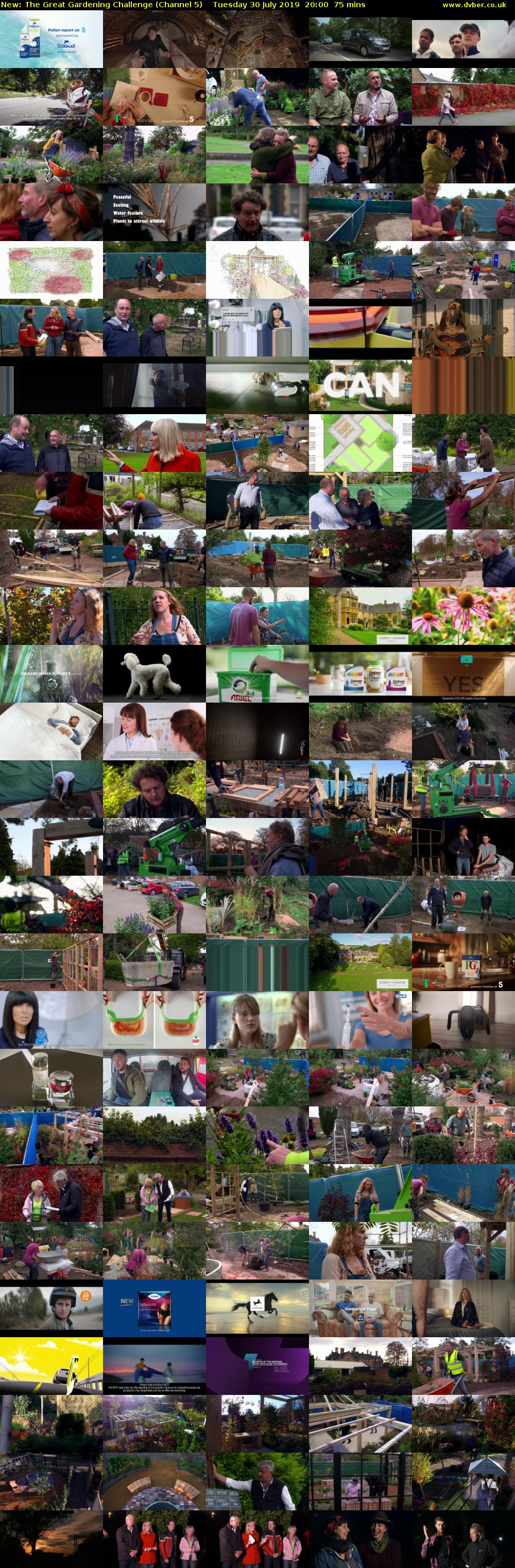 The Great Gardening Challenge (Channel 5) Tuesday 30 July 2019 20:00 - 21:15