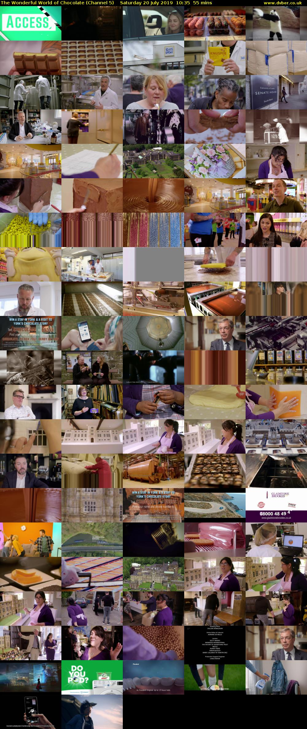 The Wonderful World of Chocolate (Channel 5) Saturday 20 July 2019 10:35 - 11:30