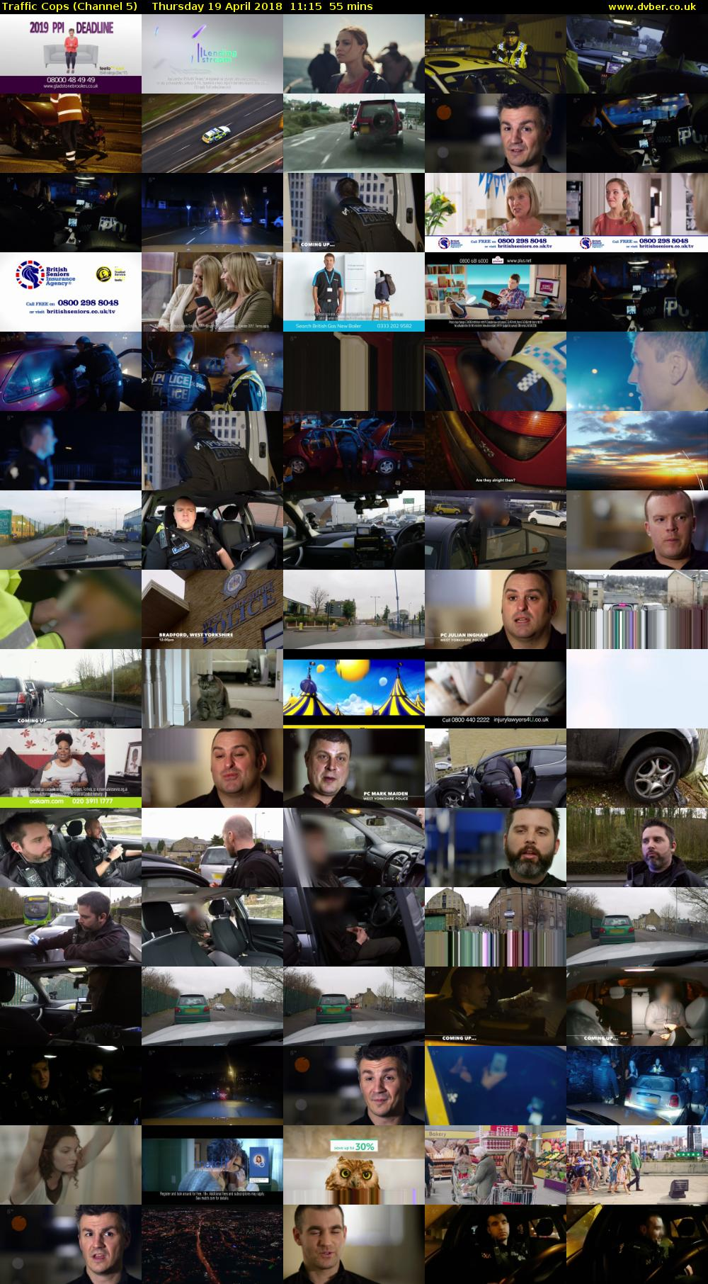 Traffic Cops (Channel 5) Thursday 19 April 2018 11:15 - 12:10